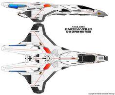 Star Trek: Endeavour | KD-56 Gryphon Warp Fighter