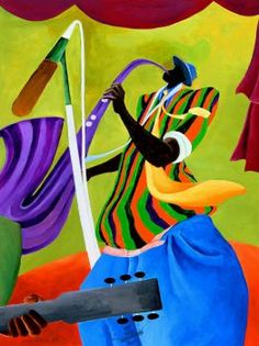 pieces jigsaw puzzle) Ivey Hayes was an African American artist from eastern North Carolina. He is known for his colorful depictions of farmworkers and fisherfolk, as well as dancers, jazz musicians and other subjects. African American Artist, African Art, American Artists, Bright Colors Art, Harlem Renaissance Artists, Jazz Poster, Caribbean Art, Jazz Art, Music Illustration