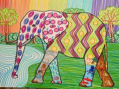 Dietro il dipinto: Elefanti a texture!!!!