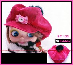 Fashion Hot Pink Hat/ Cap for Blythe - BC_122 w/ Hello Kitty #Hotdotz