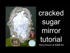Cracked sugar mirror cake topper tutorial - YouTube