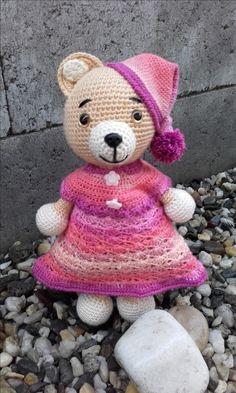 """Můj autorský medvídek """"Spinkáček"""" vytvořen pro mou malou holčičku :-)"""