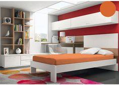 Dormitorio juvenil moderno y minimalista