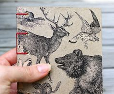 Western animals on handmade travel journal by MissRuth, via Flickr
