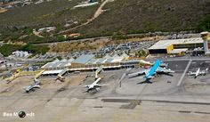 Hato Airport in Curaçao. Our ramp and compound was to the left side, out of the frame of this picture.