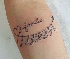 The letters represent the initials of the children. tatoo feminina, tatoo feminina delicada, tatoo f