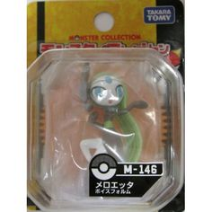 "Pokemon 2012 Meloetta Aria Forme Tomy 2"" Monster Collection Plastic Figure M-146"