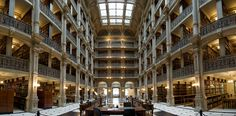 George Peabody Library at Johns Hopkins University — Baltimore, Md.