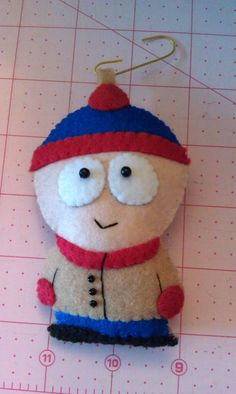 Handmade felt applique Stan Marsh from Southpark by cheshirecat22, $12.00