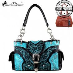 Montana West Buckle Collection Floral Embroidery Tote – Handbag-Addict.com