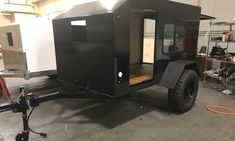 Light, simple Wrangler X trailer beckons you to build your own off-road adventure Small Enclosed Trailer, Enclosed Trailer Camper, Small Camper Trailers, Small Camping Trailer, Small Travel Trailers, Off Road Camper Trailer, Best Trailers, Trailer Diy, Small Campers