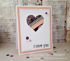 Simply Creative Sweet Dreams I love you card by DT member Lyndsey