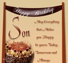 Happy Birthday To Grown Son | Birthday Wishes for Son - Birthday Images, Pictures