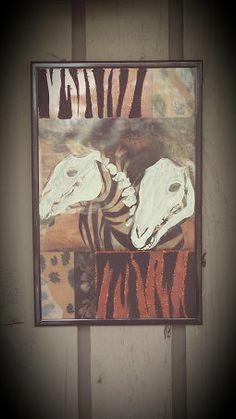 Zebra skeleton painting decorative art by ZeeesCloset on Etsy, $10.00
