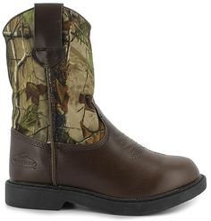 Get into the wild with these Realtree� boots:synthetic upper, camo print pattern, Realtree� logo along side, durable outsole for long-lasting wear