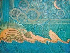 """""""Ilman Impi"""" by Joseph Alanen Art And Illustration, Illustrations, Black Cherry Flavor, 1920s Art Deco, Art For Art Sake, Gravure, Archetypes, Graphic Design Art, Art Education"""