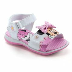 Disney Minnie Mouse Light-Up Sandals - Toddler Girls Disney Girls, Baby Disney, Disney Family, Little Girl Toys, Little Girls, Baby Girl Shoes, Girls Shoes, Ella Shoes, Expensive Sports Cars