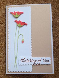 Sympathy Card - Poppystamps poppy die with decoupaged flower