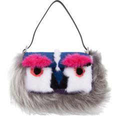 Shop now: Fendi Fur Monster Mini Baguette Bag