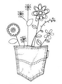 Pocket of Flowers - would be cute coming out from an actual pocket