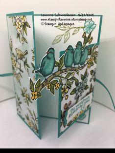 Stampin' Up! Free As A Bird Fun Fold, bird ballad suite Stampin Up Karten, Karten Diy, Fun Fold Cards, Folded Cards, Making Greeting Cards, Greeting Cards Handmade, Stampin Up Catalog, Stamping Up Cards, Bird Cards