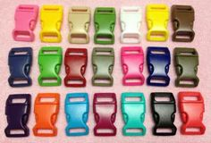 """30pc 5/8"""" (16mm) Contoured Side-release Plastic Buckles Eco-Friendly - 21 Colors Available by PEPPERLONELY for $9.98"""