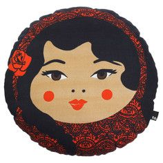 Babushka Latina Pillow Round, $25, now featured on Fab.