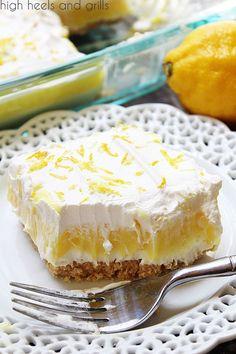 Bite of No Bake Lemon Layered Dessert.