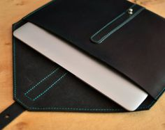 MacBook leather case. Beige hand-stitched leather by InnesBags