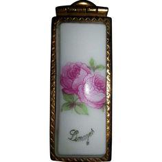 Vintage Limoges Lipstick Holder Porcelain Roses