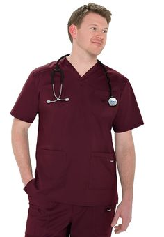Landau for Men stretch v-neck scrub top. - Scrubs and Beyond #scrubs #uniforms #nurse #men