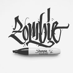 Zombie – Typography – – Graffiti World Graffiti Art, Alphabet Graffiti, Graffiti Tattoo, Graffiti Words, Graffiti Tagging, Graffiti Drawing, Tattoo Lettering Styles, Graffiti Lettering Fonts, Types Of Lettering