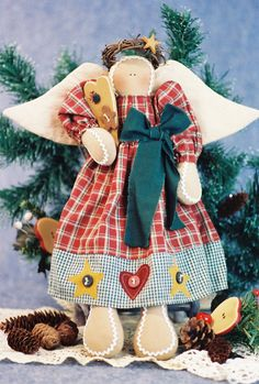 Sweet As An Angel - Mailed Cloth Doll Pattern Gingerbread Holiday Angel Doll Christmas Angels, Christmas Art, Doll Clothes Patterns, Doll Patterns, Quilt Batting, Doll Quilt, Country Crafts, Christmas Sewing, Stuffed Animal Patterns