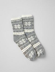 Snowflake Slipper Socks | Dressbarn
