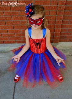 Spectacular Spidergirl inspired Tutu dress by Sleepytime4 on Etsy, $42.00