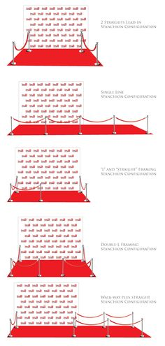 How many stanchions and velvet rope do you need for your step and repeat red carpet event? Here are different options for you to choose from.