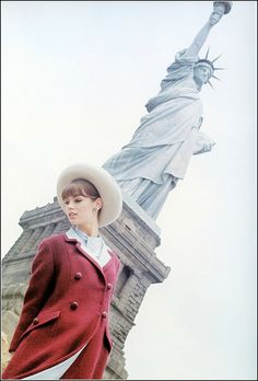 Jean Shrimpton, photo by David Bailey, Glamour, June 1963 (unpublished) | by…