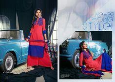 Palazzo with georgette semi-stitched kurta and chiffon dupatta. #indianfashion #desistyle #ethnics