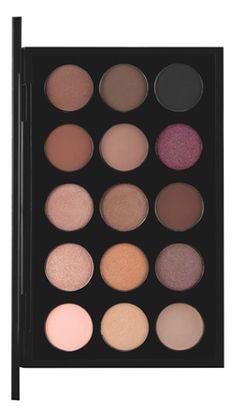 Different shades of brown eyeshadow palette