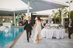 We are sharing with you today a jaw dropping beautiful and extemely stylish wedding in Cyprus. The couple chose to get married in Cyprus because as they Got Married, Getting Married, Wedding Reception Entrance, Cyprus Wedding, Mario, In This Moment, Stylish, Formal Dresses, Chic