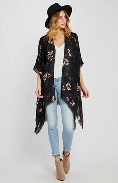 A Gentle Fawn must have! Easily packable and can be worn in many ways.One size fits Viscose Online Clothing Boutiques, Must Haves, Kimono Top, Gallery, How To Wear, Clothes, Tops, Spring, Women
