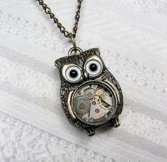 Steam punk owl?  Yes, please! http://media-cache3.pinterest.com/upload/215750638368199179_T9YXNoPX_f.jpg littlesparrows my style pinboard
