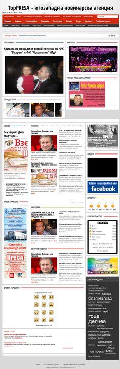 TopPRESA - Bulgarian News Agency by Wizard Design by Sibin Maynalovski, via Behance   http://www.behance.net/gallery/TopPRESA-Bulgarian-News-Agency-by-Wizard-Design/4851533#