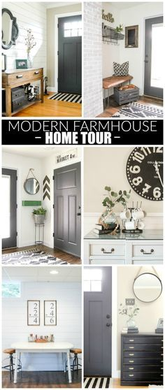 Modern industrial farmhouse home tour. www.littlehouseoffour.com