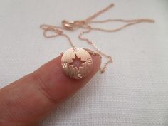 Tiny Gold, Silver or Rose Gold circle disk necklace, compass necklace by TiffanyAvenueBridal on Etsy https://www.etsy.com/listing/196203532/tiny-gold-silver-or-rose-gold-circle