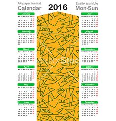 2016 calendar template vector on VectorStock