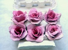 Recycle egg cartons into beautiful flowers