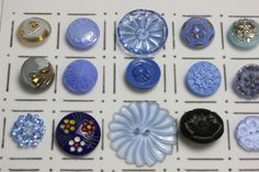 vintage glass buttons