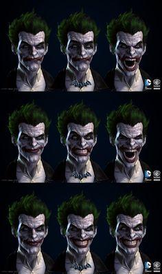 Batman: Arkham Origins, Joker Blendshapes by jocz