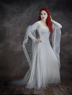 Tianna Fairy Wedding Dress / Gothic Dress (black, white or colors) - Handmade by Rose Mortem